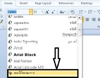 Menulis Aksara Bali Di Microsoft Word