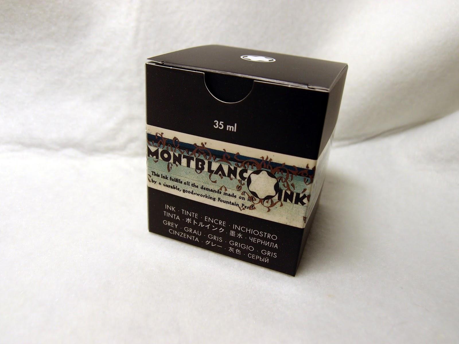 自我中心手札: 萬寶龍限量紀念墨水永恆灰 Montblanc Permanent Grey Ink Review