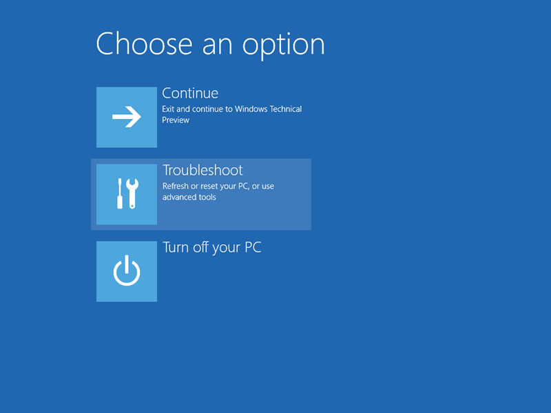 【Windows Technical Preview】セーフモード 1