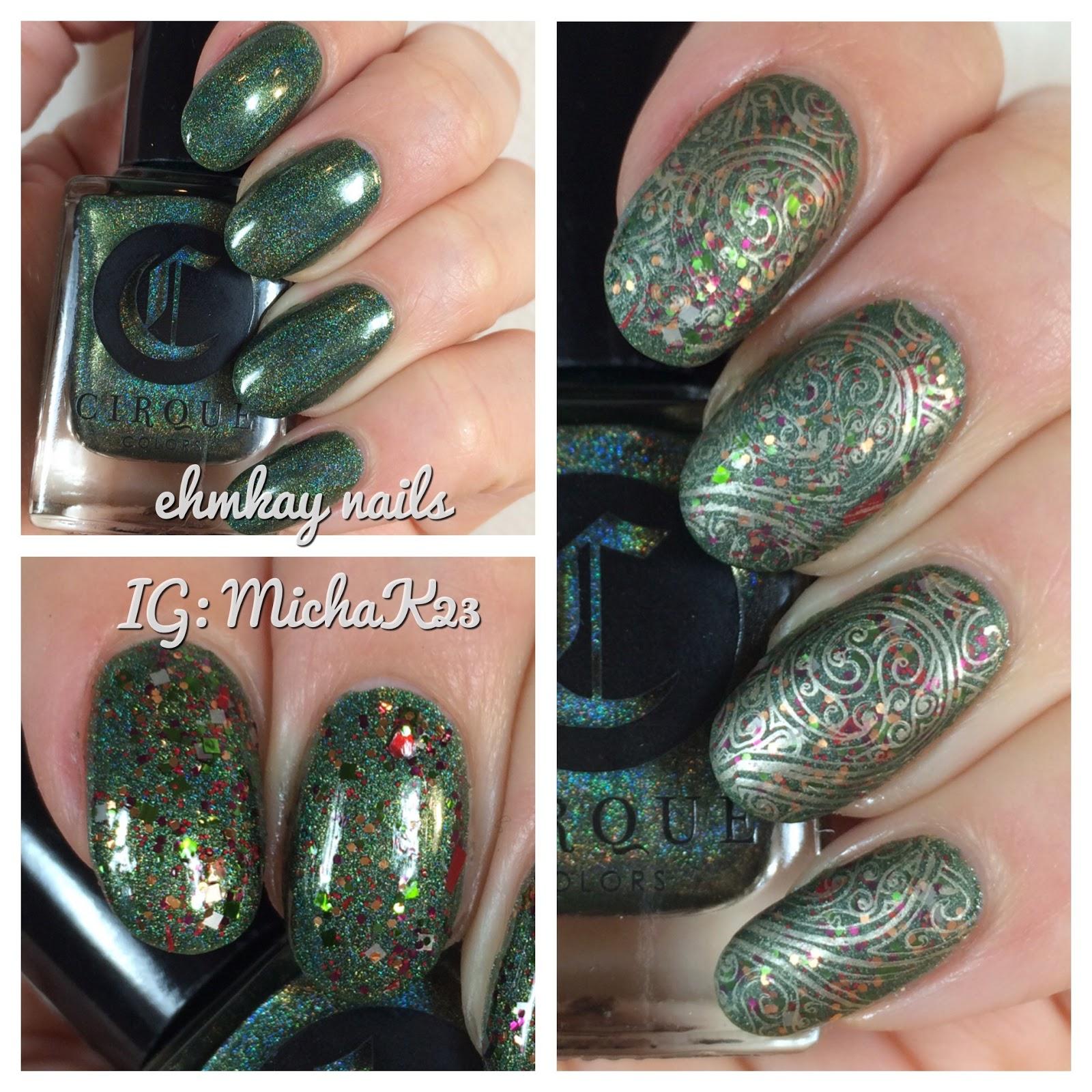 ehmkay nails: Victorian Christmas Nail Art Stamping with ...