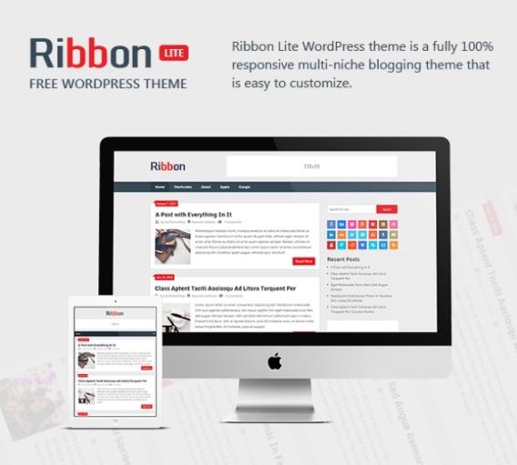 Tema Wordpress Gratis - Ribbon lite