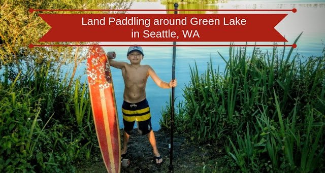 Land paddling around Green Lake in Seattle, WA
