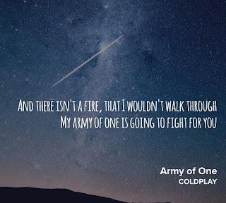 Coldplay Lyrics - Army Of One