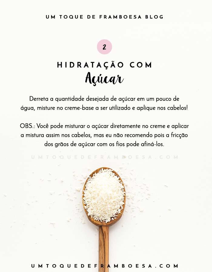 Como hidratar o cabelo com açúcar