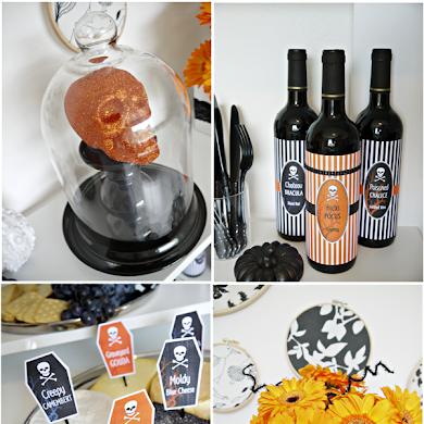 A Halloween Cheese and Wine Party