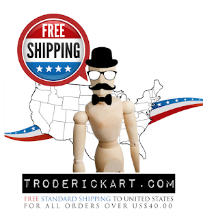 Free USA Shipping Today troderickart.com