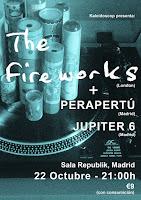 Concierto de The Fireworks, Perapertú y Júpiter 6 en Republik
