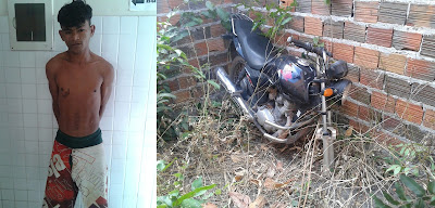 G.S.A. do 16º Batalhão prende um dos assaltantes e recupera moto que havia sido roubada próximo a balneário de Chapadinha