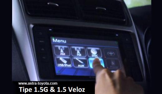 Harga Grand New Veloz 2016 Jual Bumper Kalla Toyota Kendari Avanza 2015 Audio Full Touchscreen Tipe 1 5 G Bluetooth Semua Kecuali 3e