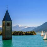 Reschenpass neben Hotel Mohrenwirt in Südtirol