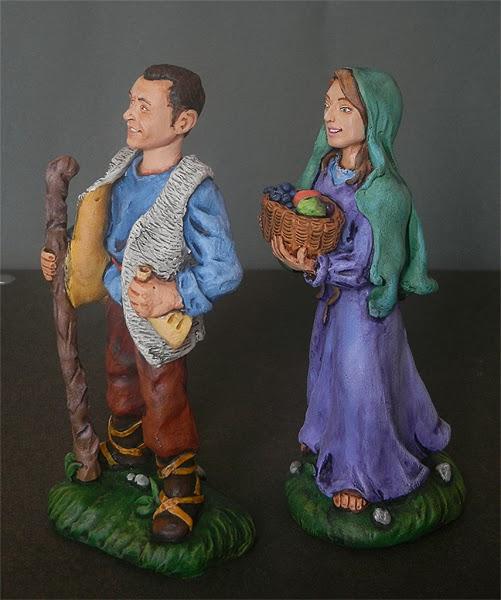 presepio personalizzato statuine ritratti statuette volti personalizzati orme magiche