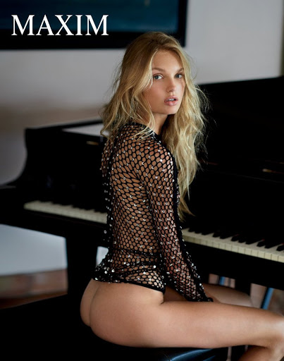 hot model Romee Strijd topless photo shoot for Maxim Magazine