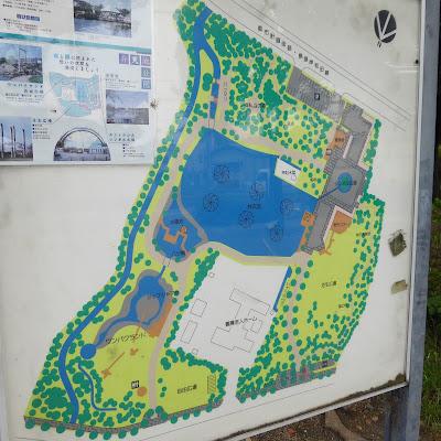 門真市・弁天池公園の案内図