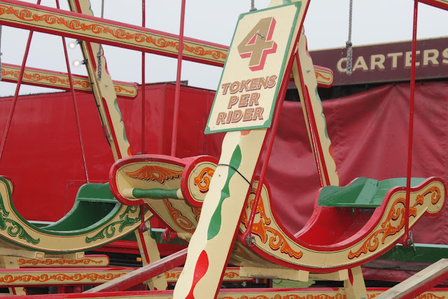 Carters Steam Fair swingboats token ride price.