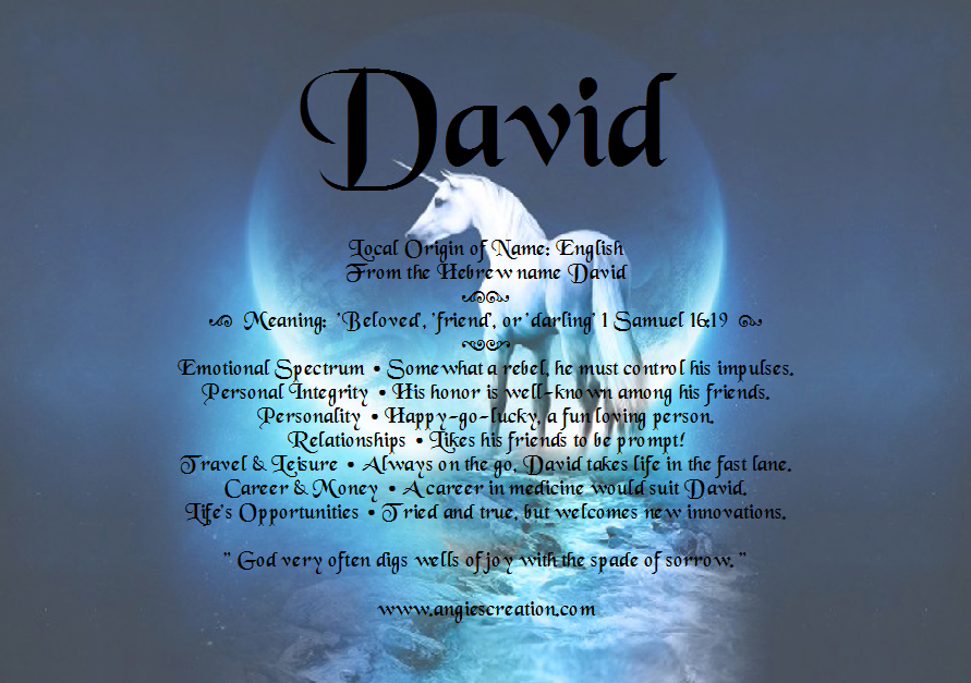 63 MEANING OF DAVID, MEANING DAVID OF