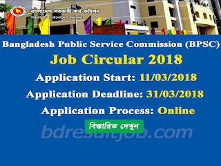 BPSC Secretariat Office Job Circular 2018