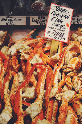 King Crab at Pike Place Market in Seattle