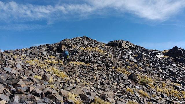 Cumbre dos, cerro bronce, filo, agua negra, paso internacional