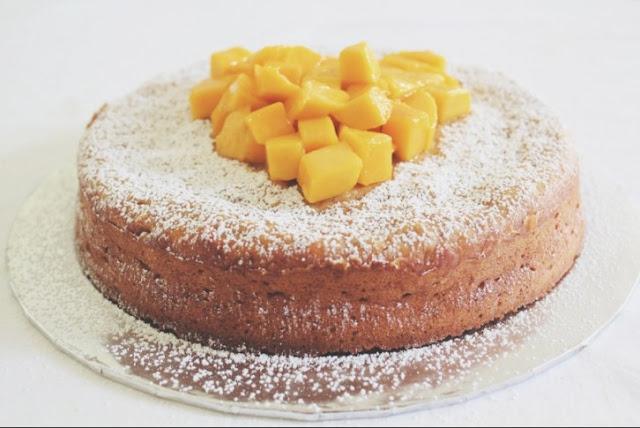 Moist Mango Pound Cake #dessert #cake