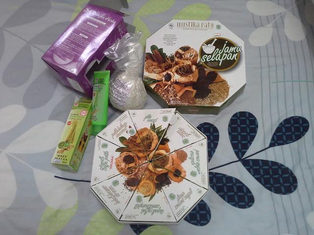 Set berpantang Jamu Selapan Mustika Ratu + Tungku Herba + Losyen Yusmira Pati Halia