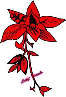 gambar batik bunga di coreldraw