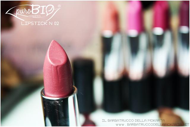 review lipstickn 02 rossetti purobio , lipstick, vegan makeup, bio makeup