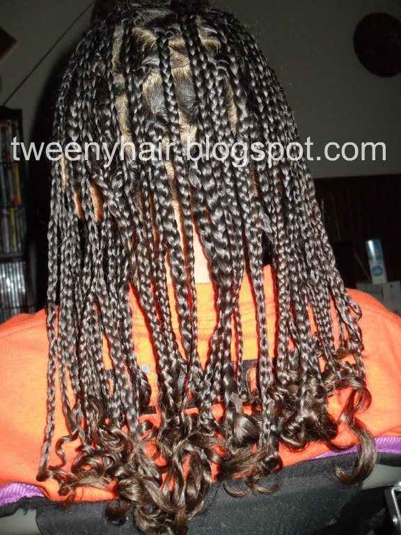 Tweeny Hair: Sharing the Spotlight: Box Braid Faux Hawk by