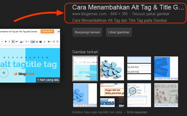 Fungsi Alt Tag dan Title Gambar pada Blog