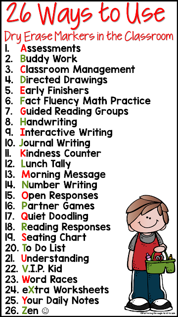 26 ways to use dry erase markers and whiteboards in the classroom