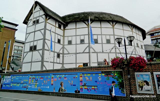 Teatro Globe de Shakespeare, em Londres
