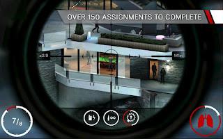 Adalah sebuah game shooter dimana peran player sebagai Agent  Hitman Sniper apk + obb