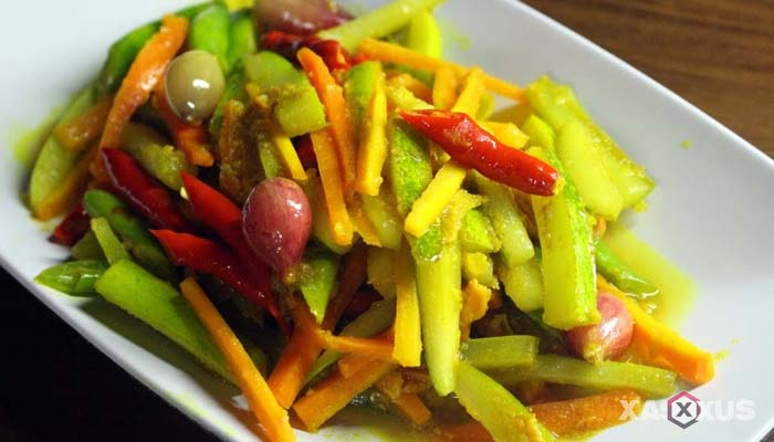 Resep cara membuat acar - acar kuning wortel timun