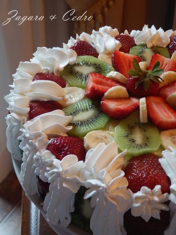 Popolare Torta di Compleanno alla Frutta fresca con crema Pasticcera  LM29