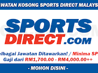 Jawatan Kosong di Sports Direct - Minima SPM / Gaji RM1,700.00 - RM4,000.00++