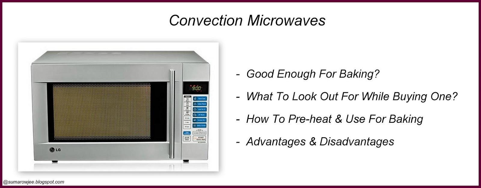 convection microwave for baking