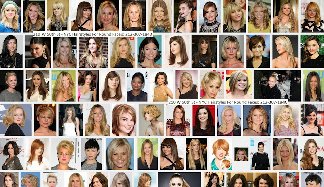 NYC Hairstyles For Round Faces