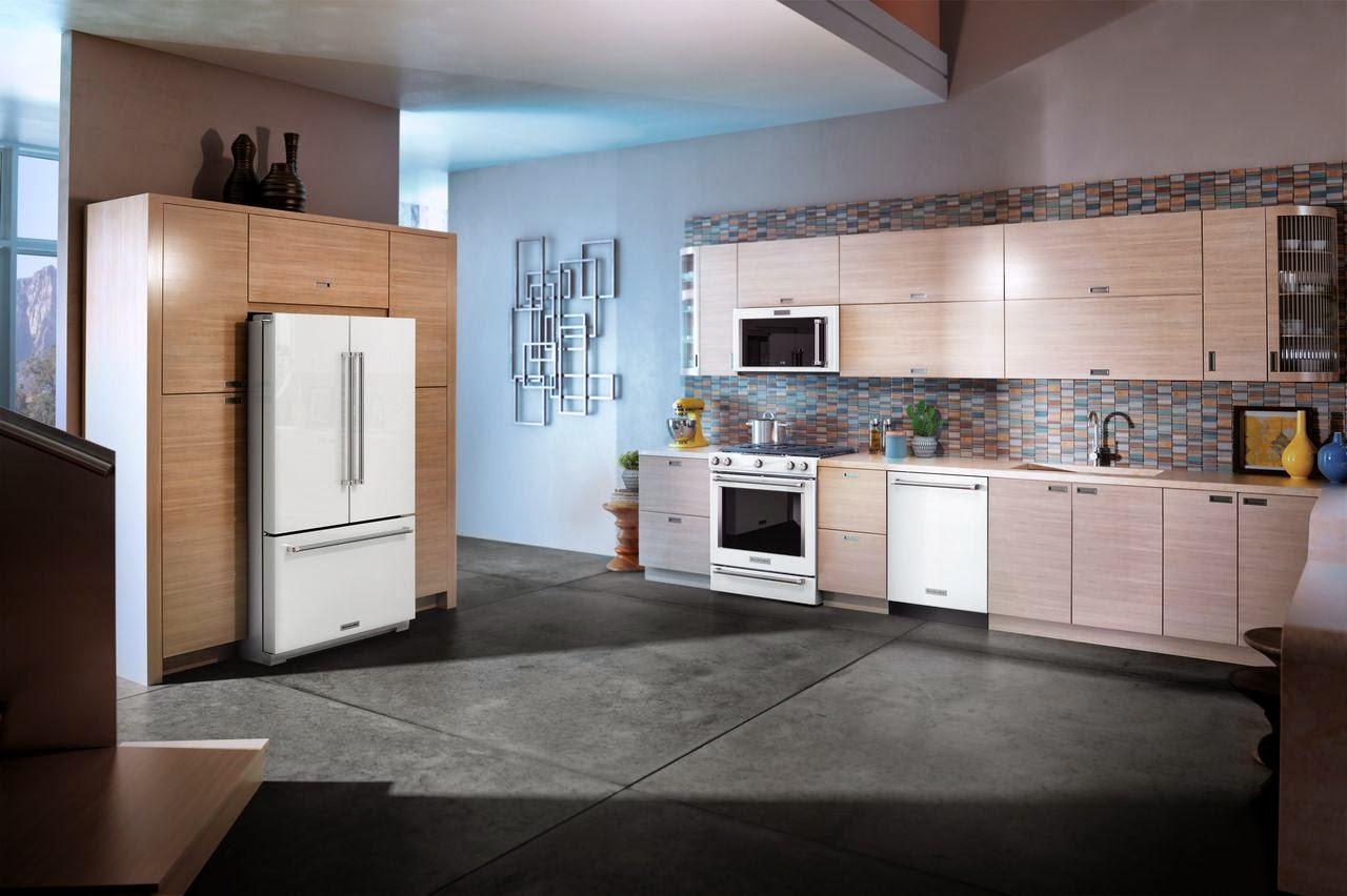 smudge proof stainless steel kitchen appliances green backsplash