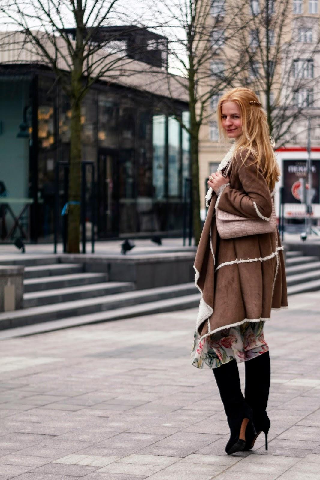 стрит стайл, романтичные плать, ирина павлова блог, costa de la moda