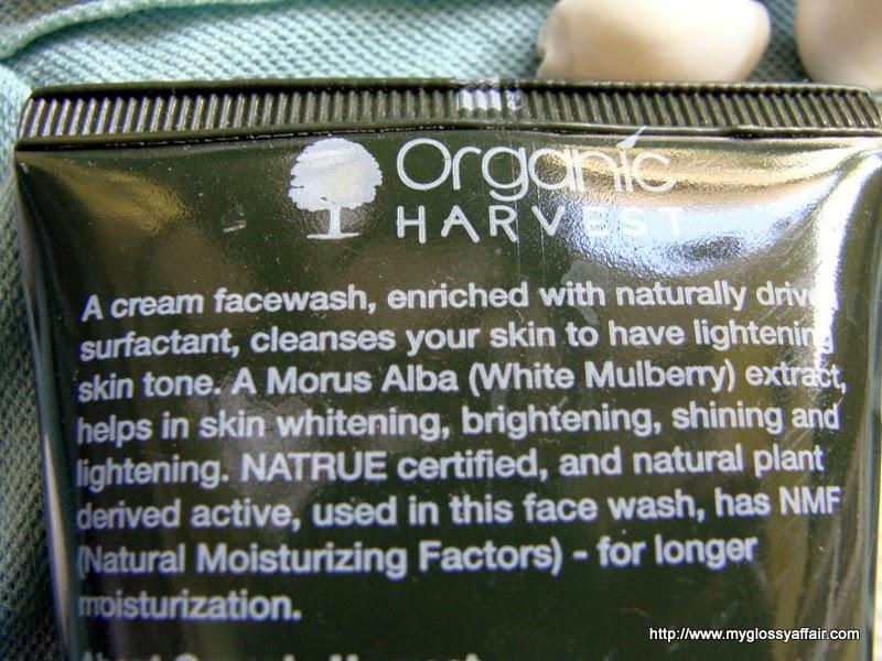 Organic Harvest Skin Lightening Face Wash Review