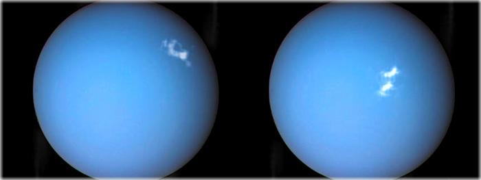 auroras polares registradas em Urano