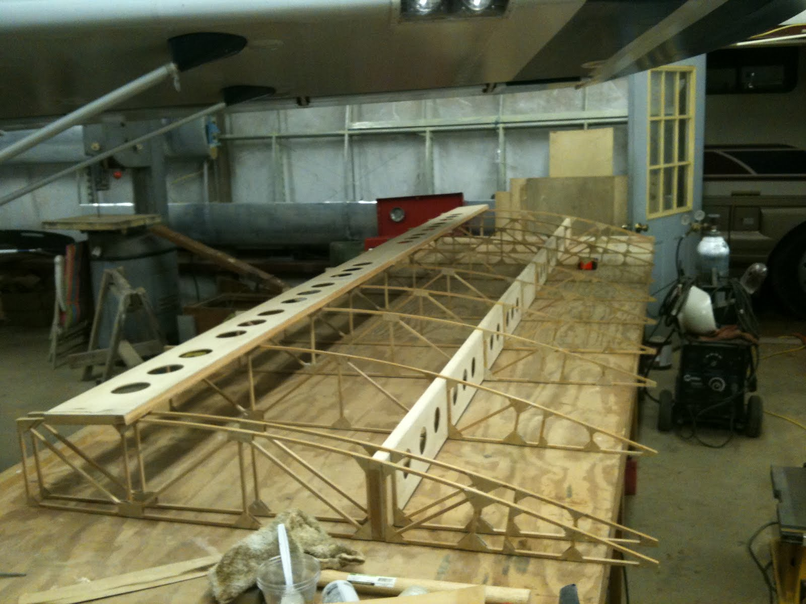 Legal Eagle Build: Wing one is on the wall, and wing two is