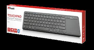 trust tastiera bluetooth 22574 con touchpad