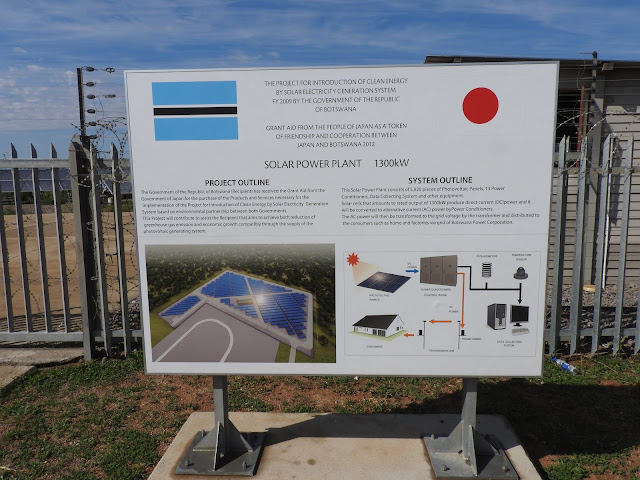 Phakalane Solar Farm Information Board