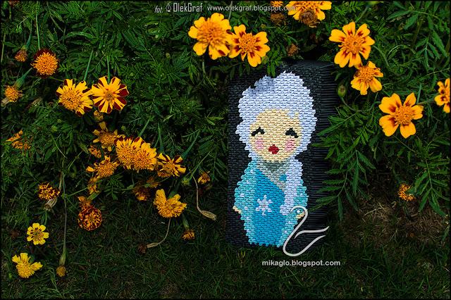 469. Elza z Krainy Lodu z origami / 3d origami Frozen – Elza