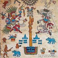 Maibaum der Maya und Azteken - Weltenachse und Weltenbaum, Baum des Lebens