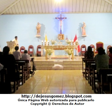 Foto de la Iglesia San Esteban por dentro (Rímac). Iglesia tomada por Jesus Gómez