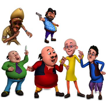 Motu Patlu and other members New HD Wallpapers images