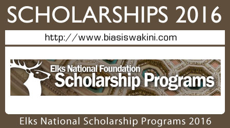 Elks National Foundation Scholarship Programs 2016
