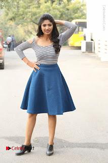 Telugu Actress Roshini Prakash Stills Short Dress at Saptagiri Express Release Press Meet  0231.JPG