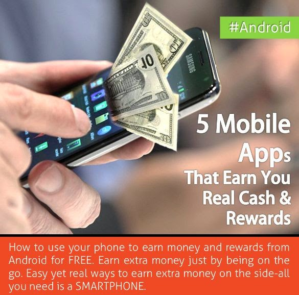 5 Mobile Apps That Earn You Real Cash & Rewards [Android]